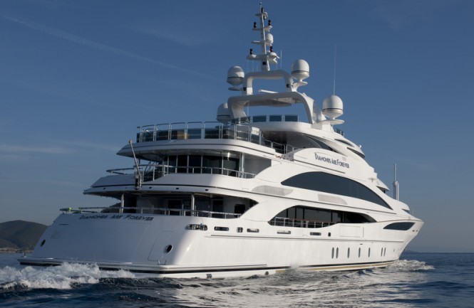 The 61m megayacht Diamonds Are Forever by Benetti