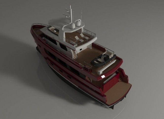The Bering 24 Superyacht - rear view