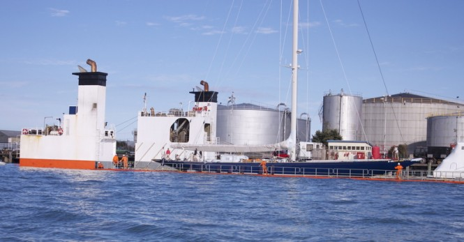Endeavour Superyacht aboard Dockwise