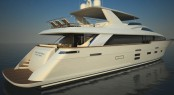 The Hatteras 93 RPH Superyacht - rear view
