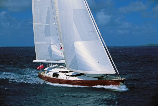 The 48.5m charter yacht Georgia by Alloy Yachts was the first 2000 vessel, ...