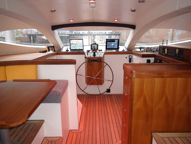 The PlanetSolar Yacht Interior