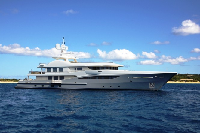 The customised LIMITED EDITIONS AMELS 180 Superyacht