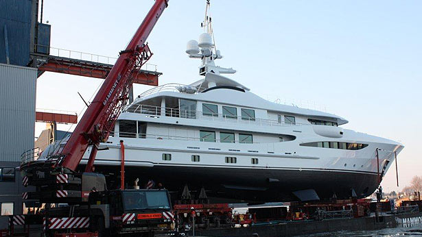 The launch of the Amels LE180 superyacht Step One