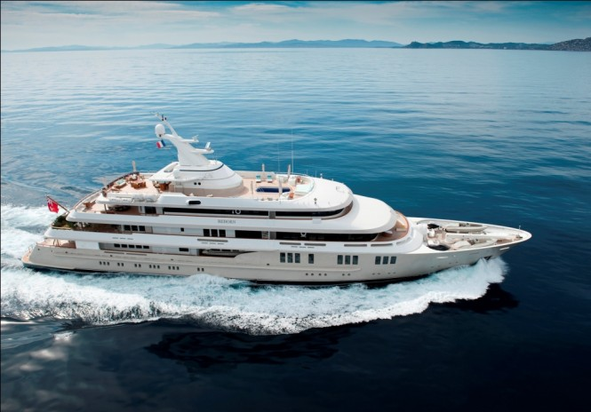 The luxury charter yacht Reborn by Amels