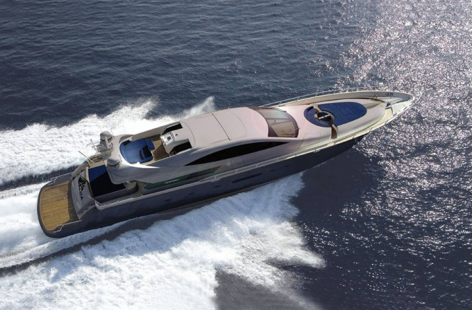 The luxury motor yacht Cerri 86´
