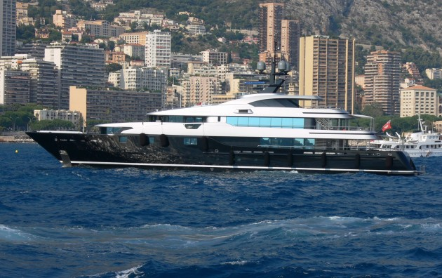 The luxury motor yacht Slipstream