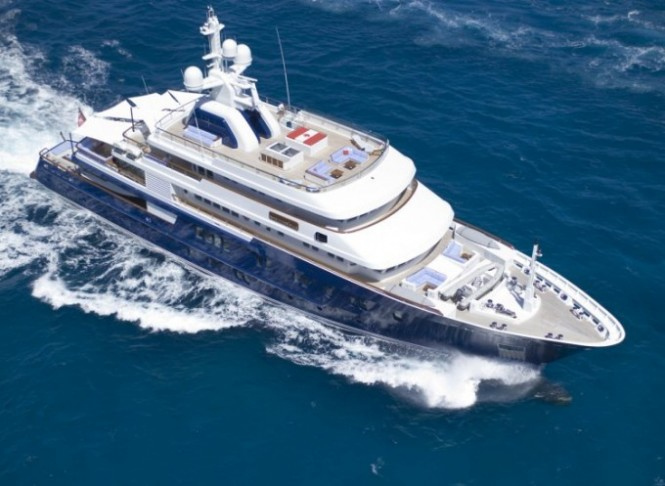 The luxury yacht POLAR STAR - Image Courtesy of Lurssen