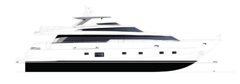 The luxury yacht SL94 by Sanlorenzo