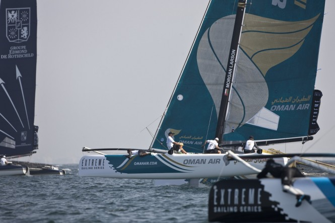 Extreme Sailing Series 2012. Act 1. The Wave Muscat. Oman Credit: Lloyd Images