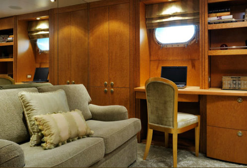 The super yacht Obssession Interior