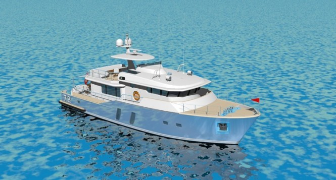 The compact Pacific Class superyacht incorporates highest comfort, ...