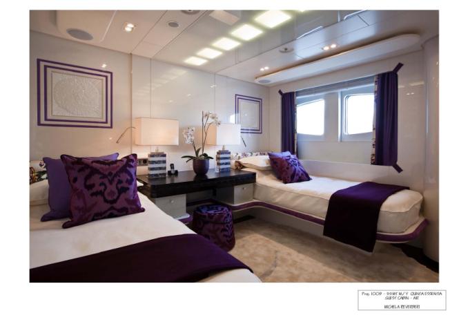 Twin Guest Cabin - Superyacht Quinta Essentia