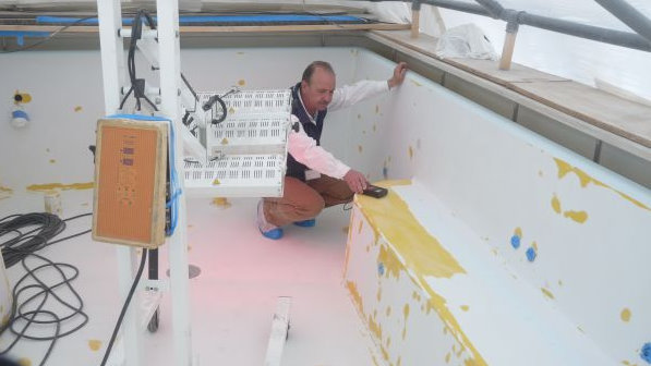 Varadero paint & refinishing job on the superyacht Saint Nicolas