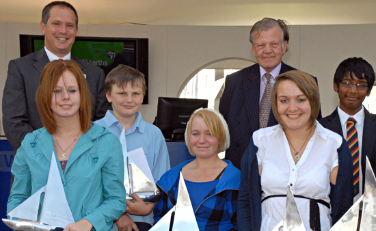 Winners of the MDL´s Sail Training Awards 2010