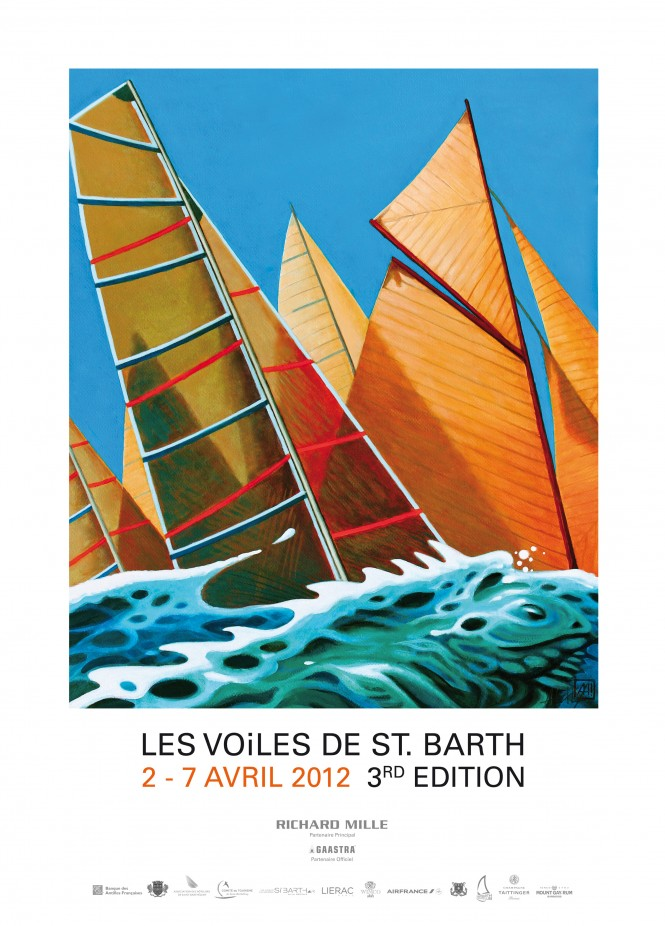 3rd Les Voiles des St.Barth Yacht Race´s Official Poster Credit Antoine Heckly