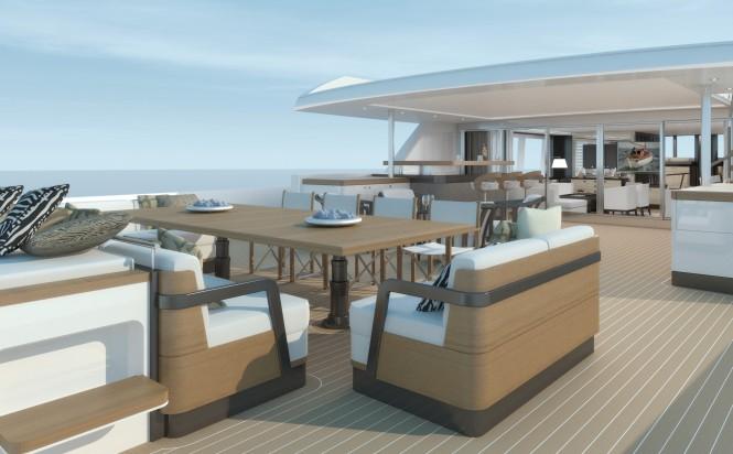 40m Superyacht Extreme Aft Deck