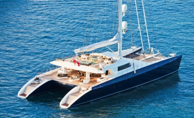 44 m luxury charter catamaran Hemisphere