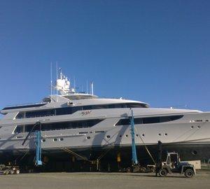 50m Motor Yacht MY GIRL by Westport Hauls Out at Oceania Marine Shipyard