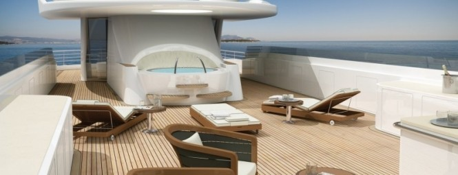 60m luxury motor yacht Amels 199 Sun Deck for pleasure, relaxation and privacy