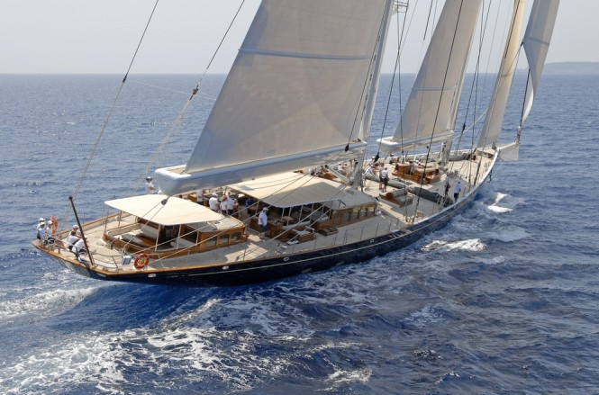 62m sailing yacht ATHOS by Holland Jachtbouw Photo by Rick Tomlinson