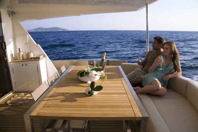 Aboard the motor yacht 78´ FLY