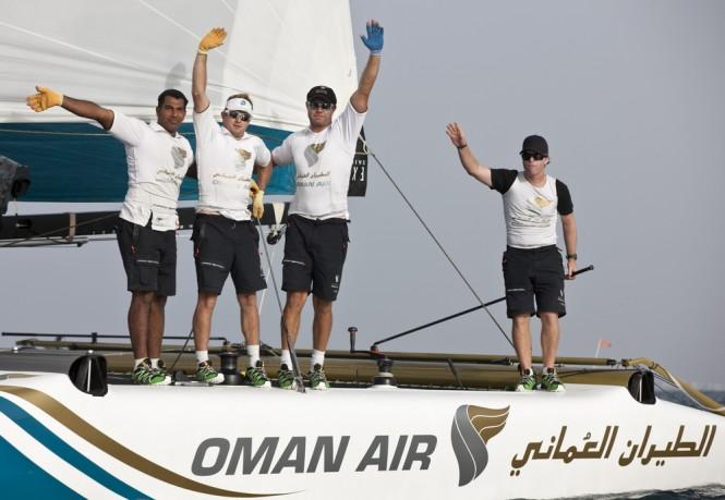 Act 1, Muscat - Day 4 - sailing yacht Oman Air Credit: Lloyd Images