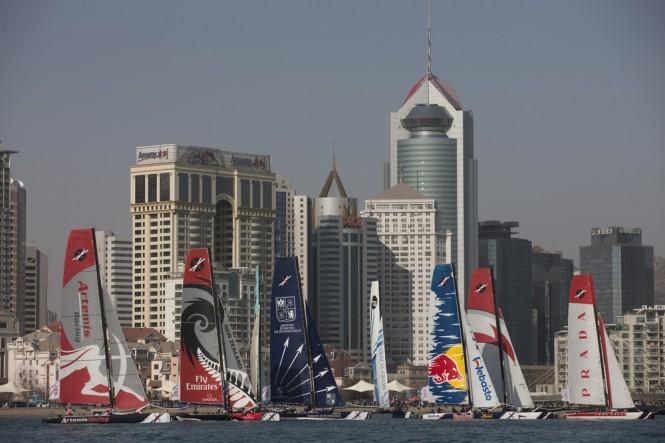 The Extreme Sailing Series 2011. Act 2. Qingdao. China  Credit: Lloyd Images