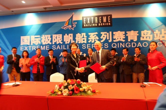 Act 2, Qingdao - Official signing ceremony Credit Mr Mi Yang