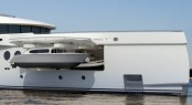 Amels 199 Superyacht Efficient tender garage, separate from guests