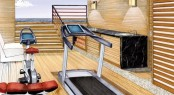 Amels 199 Superyacht High-volume, open Beach Club with gym