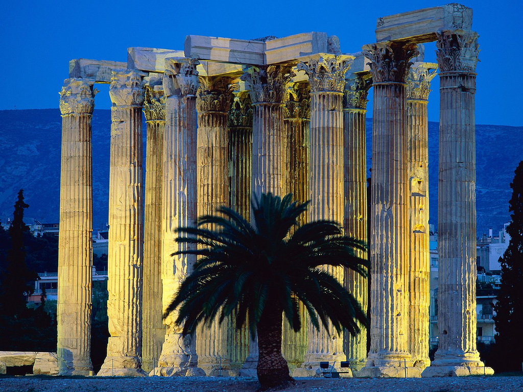 Athens - Temple of Olympian Zeus — Luxury Yacht Charter ...
