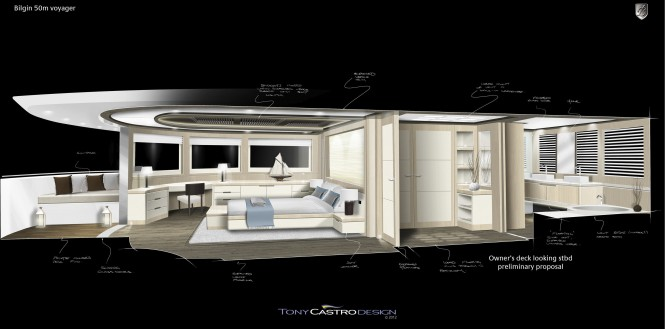 Bilgin Voyager 170' Yacht - Master Cabin