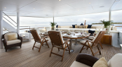 Bridge Deck Aft - Luxury charter yacht Noble House