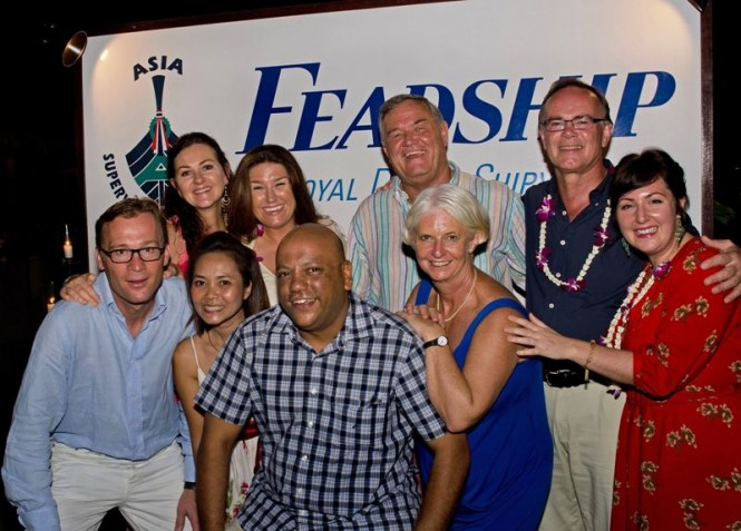 Captain Charlie with other celebrants at Asia Superyacht Rendezvous