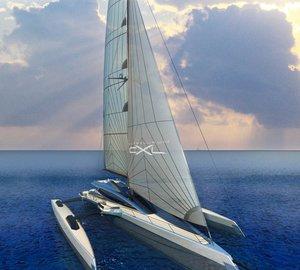 New 'Silver' version of the Mega-Trimaran yacht Ultraluxum CXL
