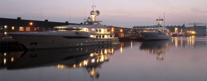 Five superyachts by Amels due to be delivered this spring
