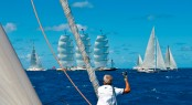 From the 38m charter yacht P2 shot at the St Barths Bucket Regatta