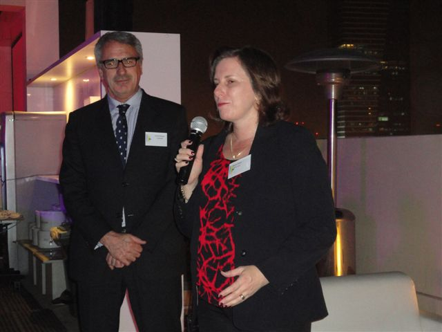 Gerard Seeber - Consul General Austrade Dubai with Sharon Foster Export Adviser NSW Trade  Enterprise