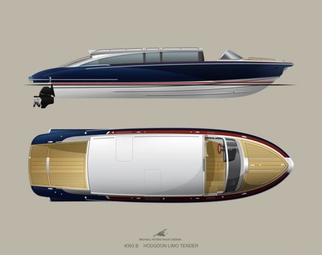 Hodgdon Limo Superyacht Tender by Michael Peters Yacht Design