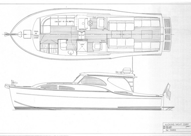 Huckins Sportsman 36 Yacht Sketches