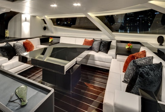 Interior of the 37m sailing yacht BLISS