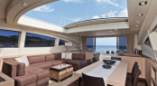 Interior of the new Mangusta 92 Yacht