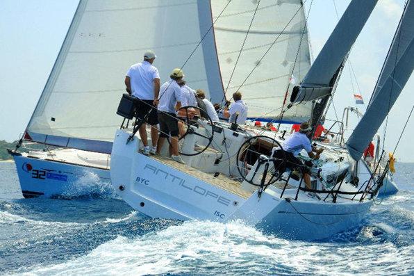 Last year's BVI Spring Regatta Winners, Antilope has top Dutch sailor on board, Bouwe Bekking Credit: BVI Yacht Shots