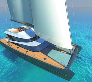 Latitude 27m catamaran yacht Blue Coast 88 due to be delivered in 2013