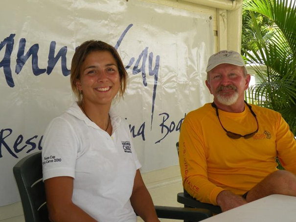 Lucy Reynolds (Northern Child, Swan 51) and Mike Caldwell (El Ocaso)Credit Louay HabibBVI Spring Regatta & S
