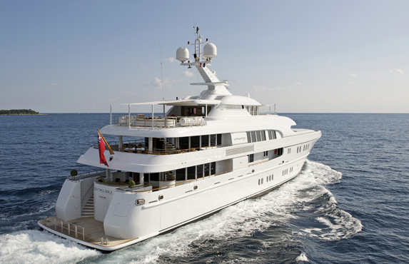 Lurssen charter yacht ARKLEY