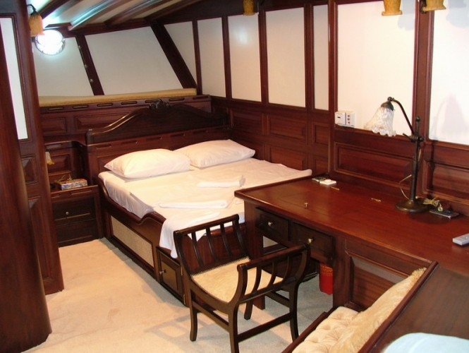 Luxurious interior aboard Turkish Gulet Grande Mare