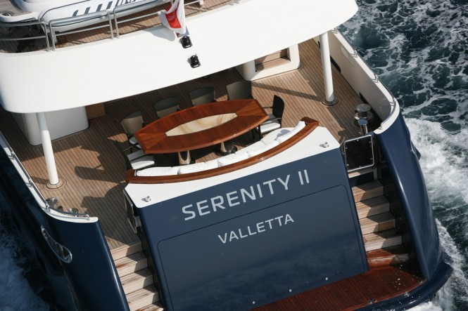 Luxury charter yacht SERENITY II