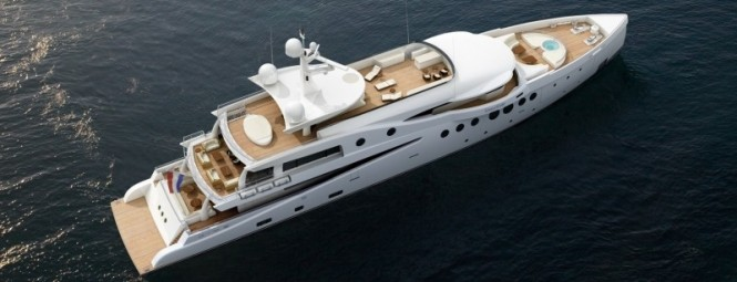 Luxury yacht Amels 199 Optional Helipad plus a Sea of Warm Teak